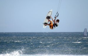 Kitesurfing at los cabos