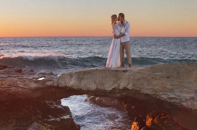 novios en Los Cabos