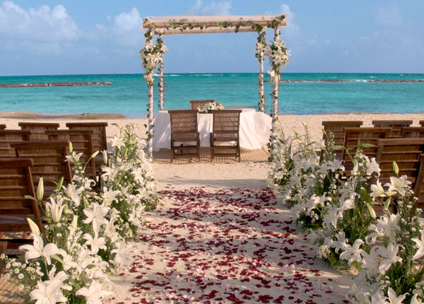 Altar de boda en Los Cabos