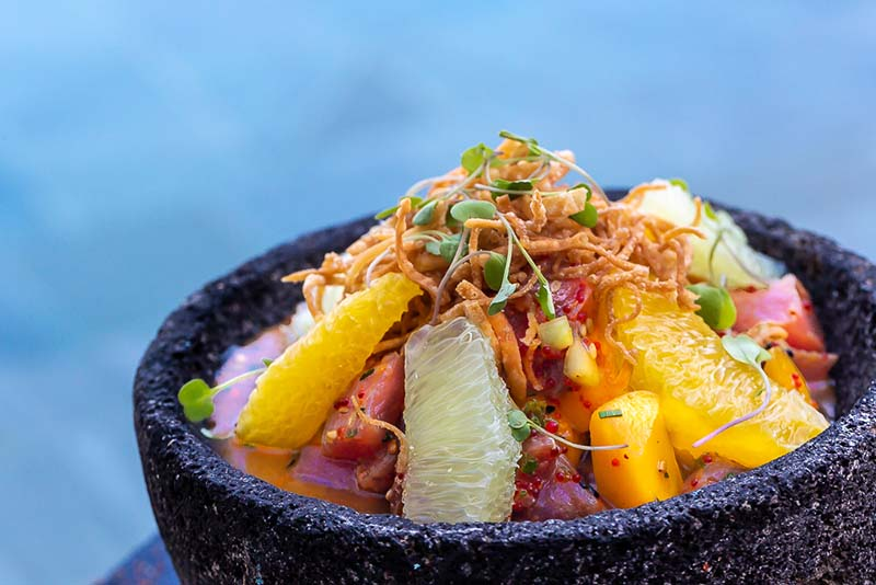 Oriental ceviche at Cabrilla restaurant in Grand Velas Los Cabos