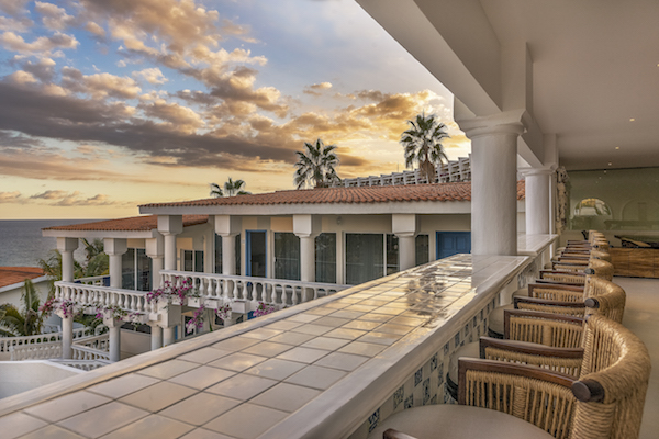 Lobby atMar del Cabo with stunning view to sea of Cortez