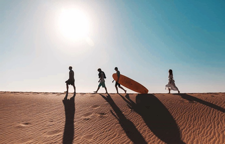 Surf and Turf experience through the desert and the beaches of Marrakesh